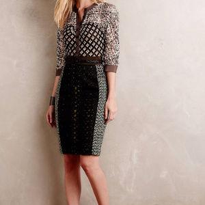 Byron Lars Melodist Lasercut Dress Size 12 EUC